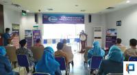Direktur SPH, dr. Selfi Farisha dalam kegiatan Launching Vaksinasi COVID-19 di Semen Padang Hospital, Senin (18/1)