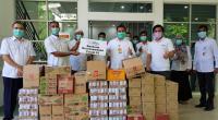 Penyaluran bantuan oleh Solusi Bangun Andalas (SBA)