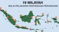 19 lokasi Balai PPP Direktorat Jenderal Perumahan.