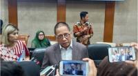 Ketua Komisi XI DPR RI Dito Ganindito saat konferensi pers di ruang rapat Komisi XI DPR RI, Jakarta, Selasa (21/1/2020).