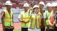 Puan Maharani Meninjau Renovasi Stadion Utama Gelora Bung Karno