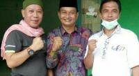Irawan Gutama Mataram (kiri) bersama Ketua DPC PPP Pessel, Marwan Anas dan Tokoh Pessel, Syaiful Ardi akademisi Unes Padang