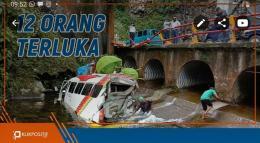 Kecelakaan Lembah Anai: Bus Masuk Sungai, Libatkan 9 Kemdaraan, 12 Terluka