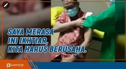 Cerita Iskandar Z Lubis Pertama Kali Divaksin Covid-19